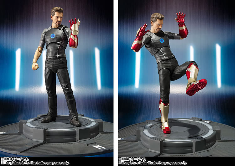 15CM SHF anime figure The avenger Iron man Tony Stark action figure collectible model toys for boys 15cm anime figure daredevil action figure collectible model toys for boys