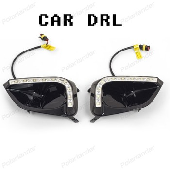 2017 new arrival drl fog lamp accessory Daytime running lights car styliing for T/oyota V/ios 2014-2015
