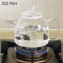 Прозрачный чайник высокая температура может открыть огонь стеклянный чайник термостойкий стеклянный чайник фруктовый чай ароматизированный чай 900 мл