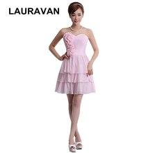 2018 sweetheart korean popular sexy elegant pink bridesmaid dresses classy chiffon  dress strapless short free shipping 30720b4cae83
