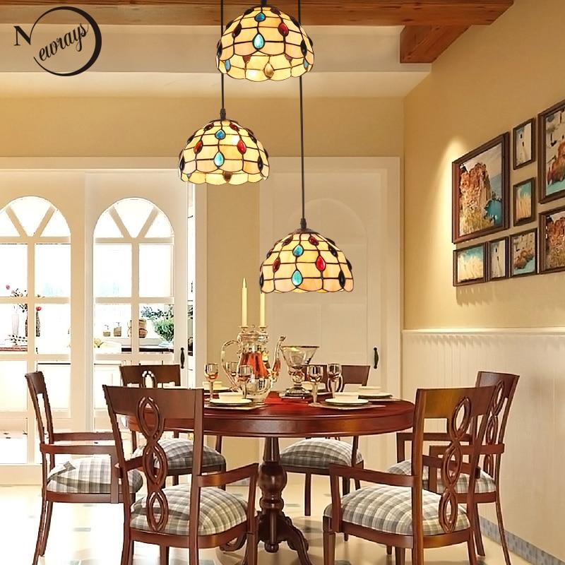 Retro novelty modern glass pendant light LED E27 Nordic vintage simple hanging lamp for living room bedroom kitchen restaurant