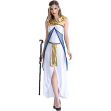 Umorden Carnival Party Halloween Cleopatra Costumes Women Historical Egyptian Egypt Queen Costume Split Long Fancy Dress