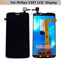 For Philips V387 LCD Display With Touch Screen Digitizer Assembly FPC-S90642B-1 Original Replacement Parts