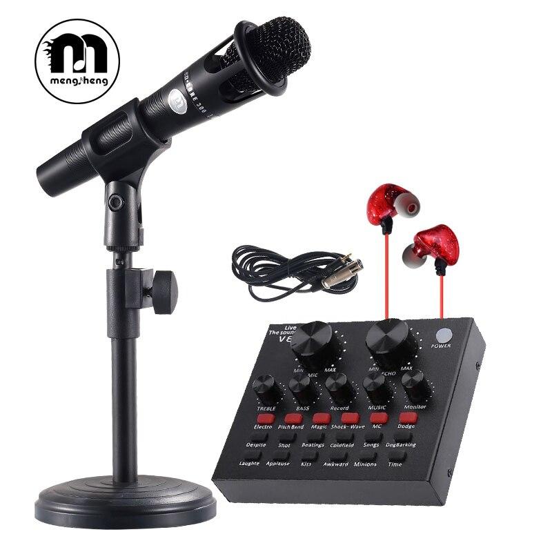 Hot! Professionnel À Condensateur de Studio Microphone pour Ordinateur Portable Téléphone d'enregistrement Multi-fonction Carte Son mikrofon ensembles E300