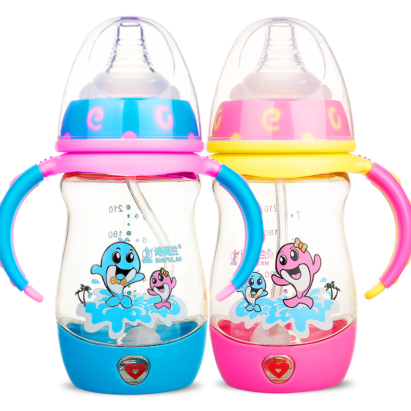 Infant Milk Baby Bottle Ppsu Sippy Cup Circle Handle Good