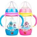 Leite infantil PPSU Mamadeira Sippy Copo Círculo Lidar Com Boa pirâmide alimentar cute baby crianças crianças aprendem a mamadeira do bebê 60F043