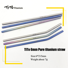 TiTo titanium straws with 1 cleaner brush aolly bend straw kitchen Outdoor camping drinking gift