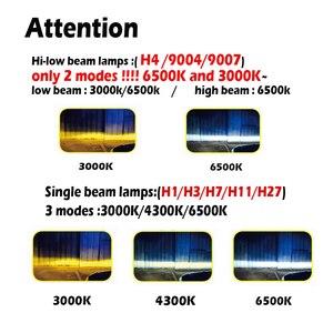 Image 3 - Infitary h4 LED H1 H11 9005 h7 LED 3 farbwechsel auto scheinwerfer nebel licht 3000K 4300K 6500K 72W Auto Lichter 2 Pcs
