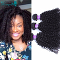 4 Pcs Kinky Curly Filipino Virgin Hair Afro Kinky Curly Virgin Hair 100% Unprocessed Human Hair Weave Rosa Queen Products