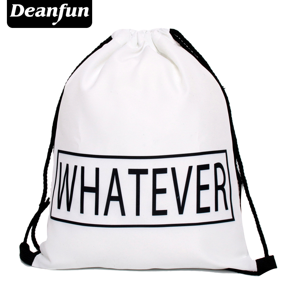 Deanfun Emoji Backpack New Fashion Women Backpacks 3D Printing Bags Drawstring Bag For Men s79 makorster fashion letter pattern women backpack bag drawstring bagpacks canvas backpacks cheap printing feminine backpack mk232