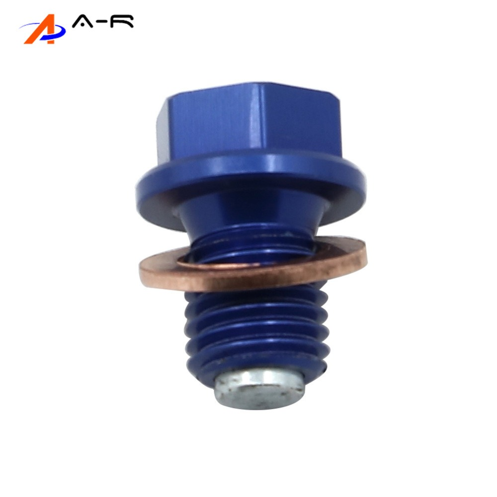 M10*1.25 Aluminum Magnetic Frame Oil Drain Plug Bolt Screw For Yamaha YZ125 YZ250F YZ250FX YZ450F WR250F WR450F YZ WR 250 450(China)