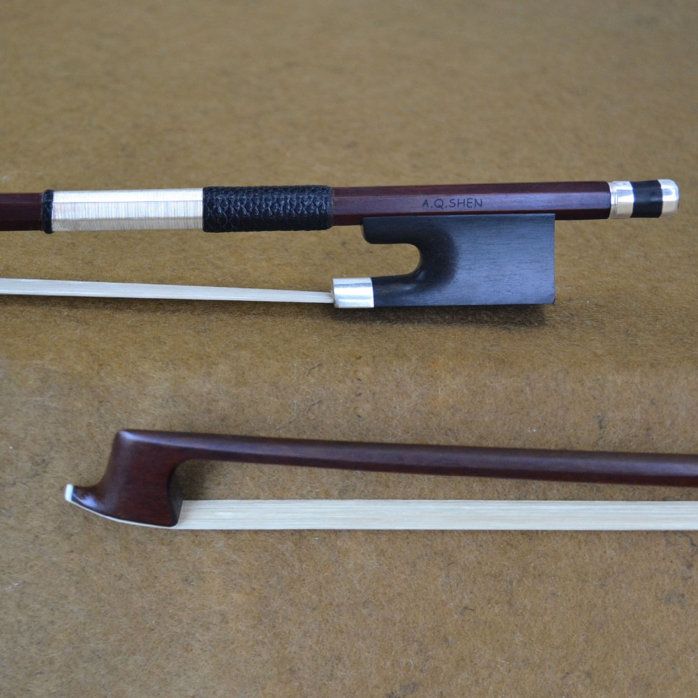 FREE CASE 4/4 Size 910M Master VIOLA BOW Nice Pernambuco Stick High Quality Ebony Frog and Horsehair Straight Viola Accessories 1 pc nice quality snake wood cello bow ebony frog 4 4 white horse tail hair