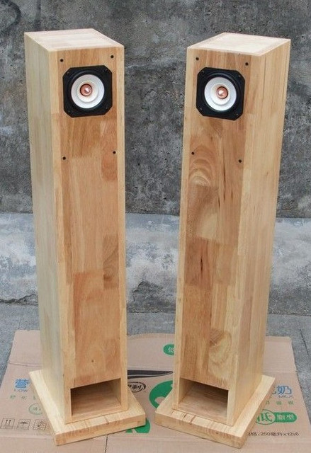 custom solid wood cabinet column 45 6.5 8 inch full range speakers