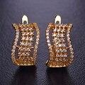 Blucome s forma minúsculo aaa + cz zircon simulado diamante brincos para as mulheres ródio banhado a ouro ear acessórios do casamento orecchini