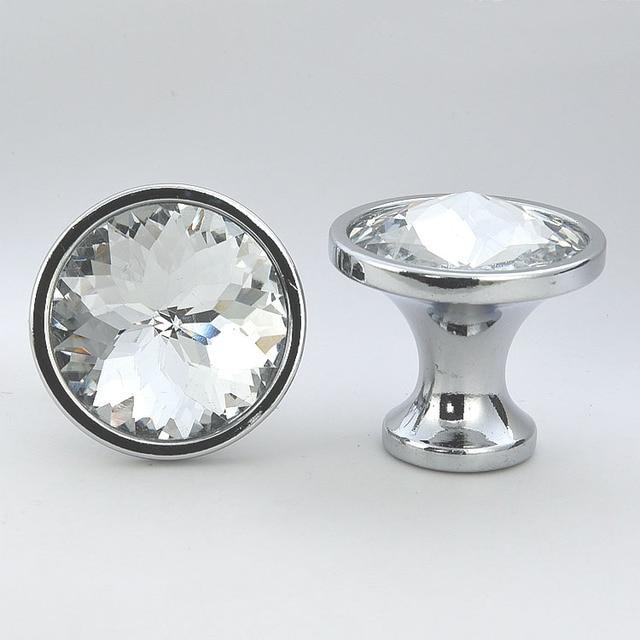 10 STÜCKE Clear Crystal Zink legierung Schrank Türgriffe Schublade ...