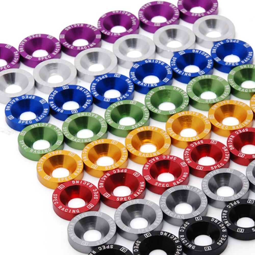 10pcs JDM car screw M6 Washer Screw Hex Fasteners Modification Engine Concave Screws Fender Washer Bumper for auto