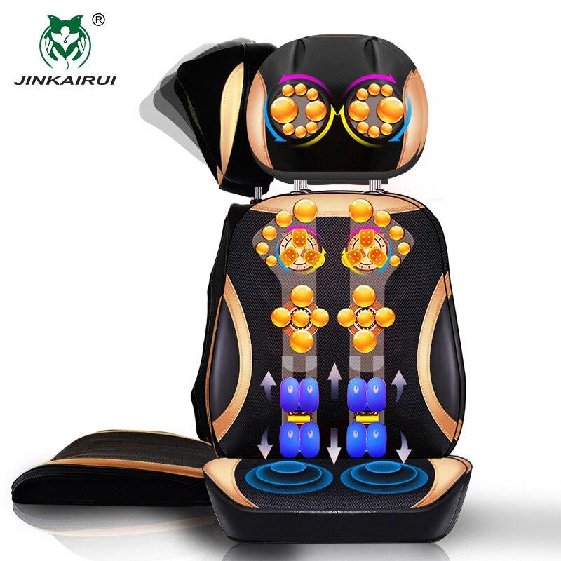 JinKaiRui Vibrando Elétrica Cervical Pescoço Para Trás Almofada de Massagem Cadeira de Massagem Estimulador Muscular Do Corpo com Dispositivo de Aquecimento