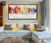 2017 Wall Pictures For Living Room Comics Large Tableau Peinture Sur Toile Moderne Abstrait Hand Painted