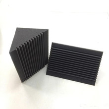 6 PCS Acoustic Foam Charcoal/Black Bass Trap Sound Absorption Studio Soundproofing Corner Wall 12 x 12 x 24 cm(China)
