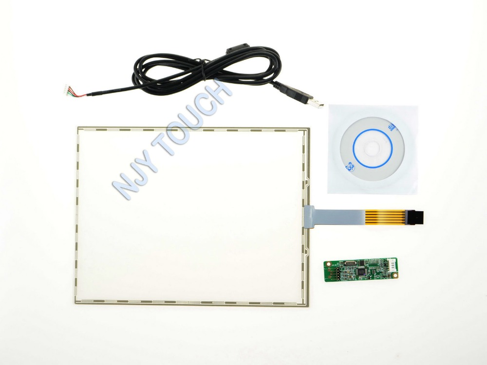 10 4 Inch 5 Wire Resistive Touch Screen Panel USB For 10 4 LCD Panel 229x174mm