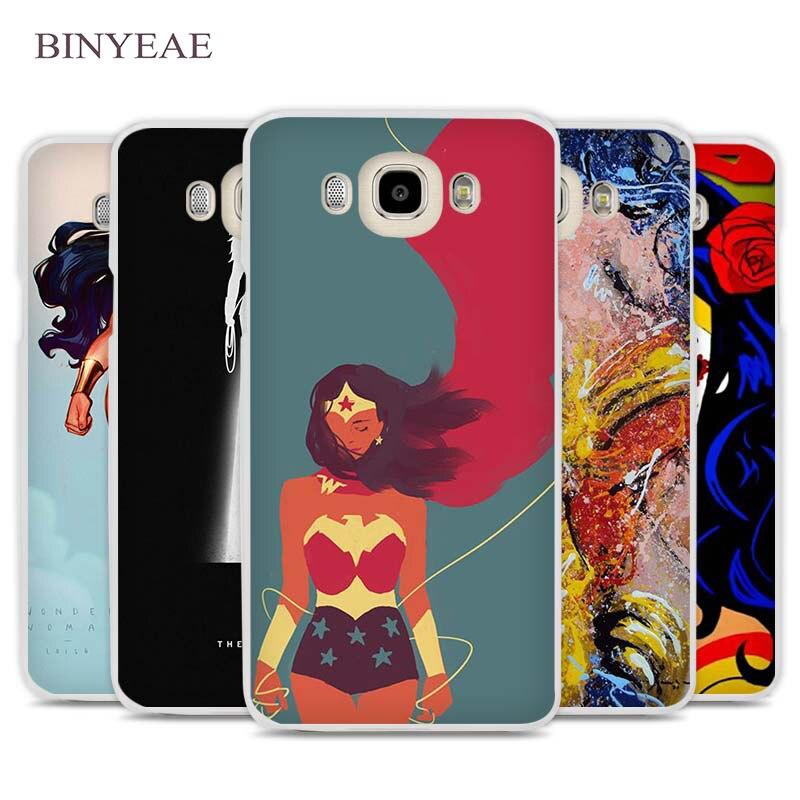 Binyeae Wonder Woman Superwoman сотовый телефон чехол для Samsung Galaxy J1 J2 J3 J5 J7 C5 C7 C9 E5 e7 2016 2017 Prime