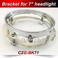 """CZG-BK71 Farol Da Motocicleta Chrome 7 """"Round Lâmpada LED cabeça 7 polegada rodada Farol 40 w Motocicleta Suporte De Montagem Anel"""