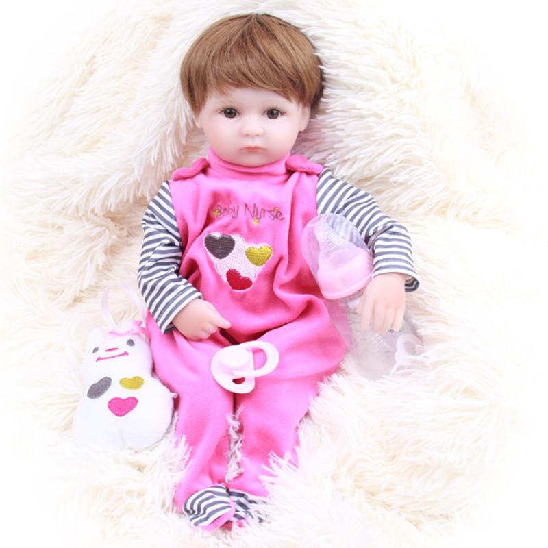 2018 New Type Real Dolls Reborn Doll 42cm 16 Inch Adorable Girl Toddler Reborn Babies Dolls Toys Silicone Vinyl Newborn Doll Toy new sale 22 inch 55cm full silicone reborn doll with tiger yellow clothes playmate silicone toddler reborn babies girl dolls