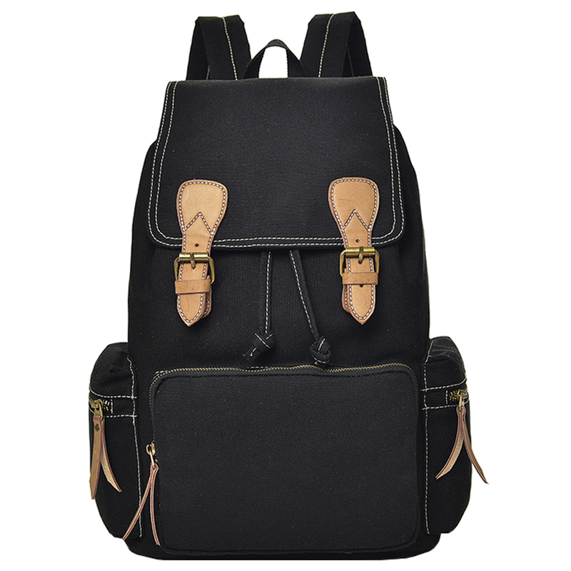 High school student bag female Korean version of the campus Mori girl college simple high-capacity male backpack canvas 2017 new painted canvas bag shoulder bag korean version of the travel backpack student bag school bag campus