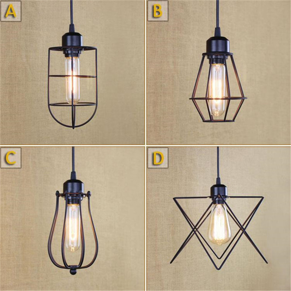 Small Cages Pendnant Lights Industrial Style Decorated