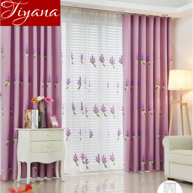 Korean Lavender Embroidered Voile Curtains For Modern Living Room Bedroom Window Screen Yarn Cloth Tulle T 505 20