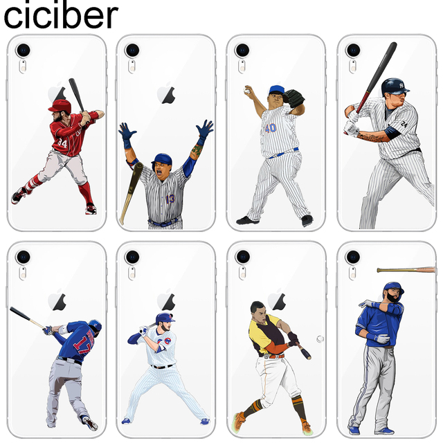 san francisco bf096 62dd5 US $1.78 49% OFF|ciciber Sports America baseball Pattern Design Soft  Silicone Phone Cases Cover for Iphone 8 7 6 6S Plus 5S SE X XR XS MAX  Coque-in ...