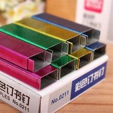 Красочные степлер книжные скрепки скобы для степлера 1,2 см книжные скрепки 800 шт./кор. канцелярские принадлежности