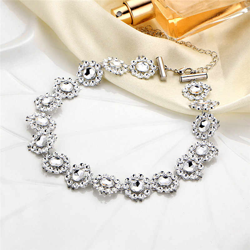 Multiple layers Rhinestone Choker Crystal Gem Luxury Collar Chokers Necklace Women Chunky Maxi Statement Necklace Jewelry