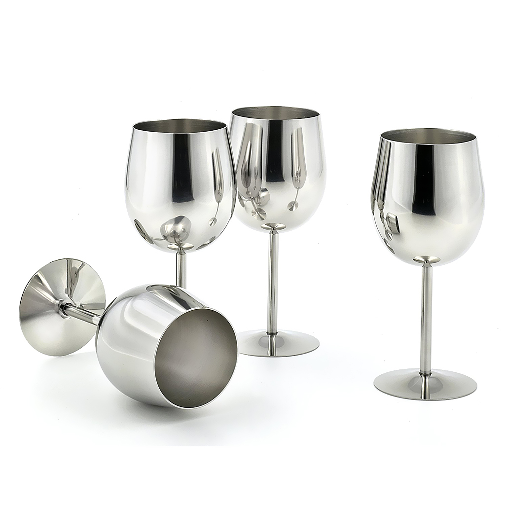 Hot Sale 1 Pcs Stainless Steel Red Wine Glass Champagne Goblet Cup Unbreakable Drinking Mug Desk Kitchen Home Decor Gift Camping