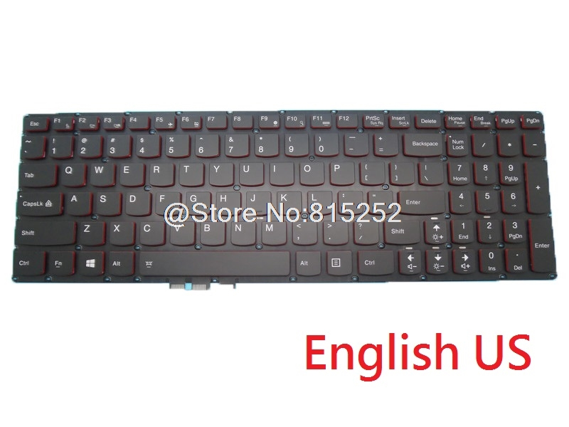 Laptop Keyboard For LENOVO Y50 Y50 70 Y50 70AS Y50 80