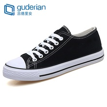 GUDERIAN New 2019 Spring Summer Canvas Shoes Men Low Top Black Red White Shoes Men Flat Fashion Casual Couple Shoes Footwear