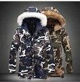 HANWILD Mornas do Inverno Homens Jaqueta Estilo Militar de Médio Longo Dois Camuflagem Parkas Com Capuz Casaco de Algodão Acolchoado Casacos Quentes Plus Size