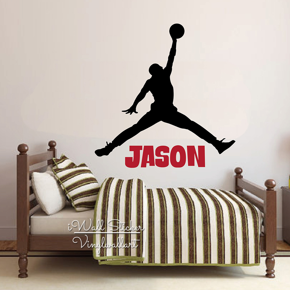 Jordan name wall sticker baby nursery custom name wall decal kids room cut vinyl sticker personalized boys name decors c78