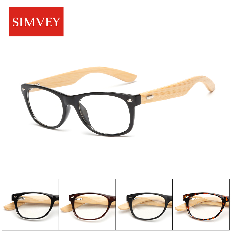 Aliexpress.com : Buy Simvey Gold Wood Bamboo Nerd Glasses Frames ...