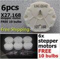 6 PCS X27 168 X27.168 Stepper Motor Instrument Cluster For GM GMC Cars And Trucks 2003-2006.10 bulbs