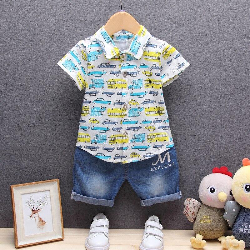 Niños Que Arropan verano de los muchachos de La Camiseta + pantalones cortos 2 u