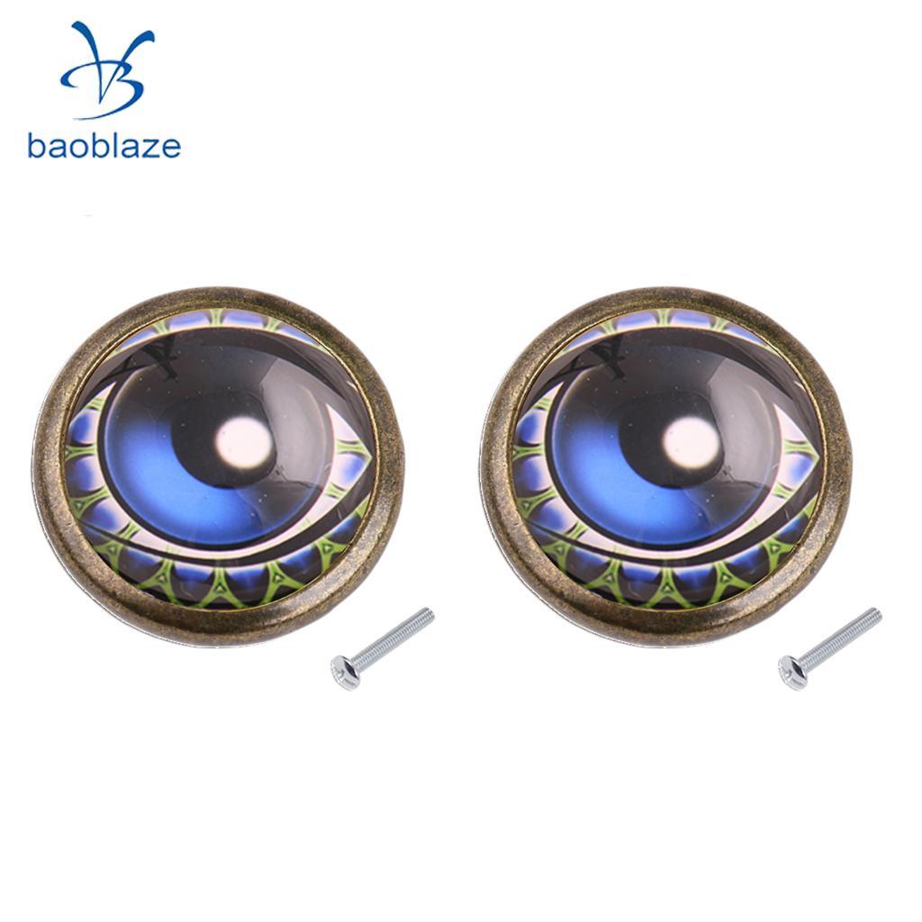 2x Eye Design Pull Knob Handle For Cabinet Drawer Cupboard Wardrobe Door Jewel Case Box