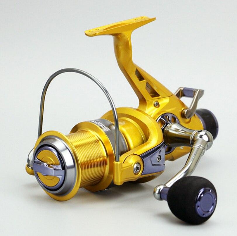 Nouvelles offres spéciales KM5-60 populaire carpe bobine Double système de freinage océan eau salée fraîche glace mouche roue filature bobine 11 roulements à billes