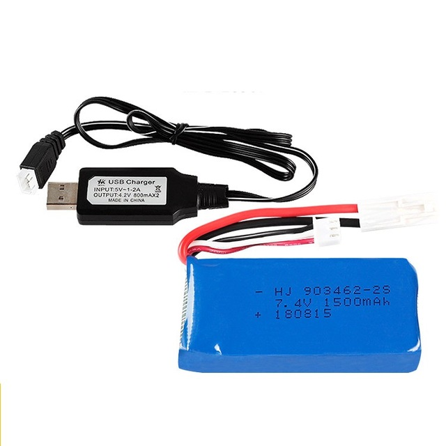 FT009 2.4G RC racing boat 7.4V 1500Mah/<font><b>2800mah</b></font> Lithium battery/USB charger <font><b>2S</b></font> image