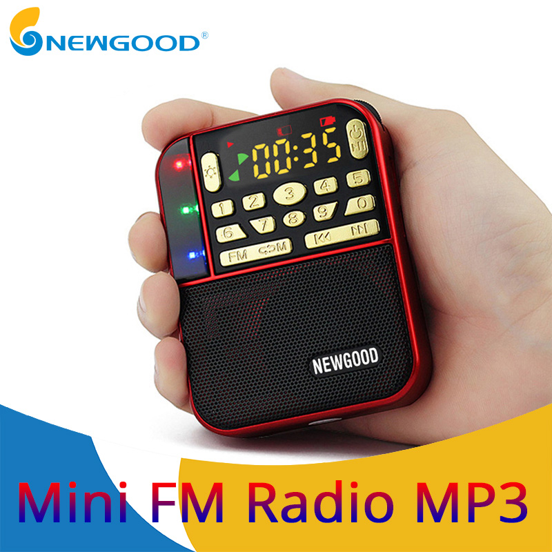 Mini Fm Pocket Radio stereo Micro sd portatile Radio Fashion Band Speaker Tf Usb Mp3 Altoparlanti Fm Ricevitori Ricevitori Altoparlante
