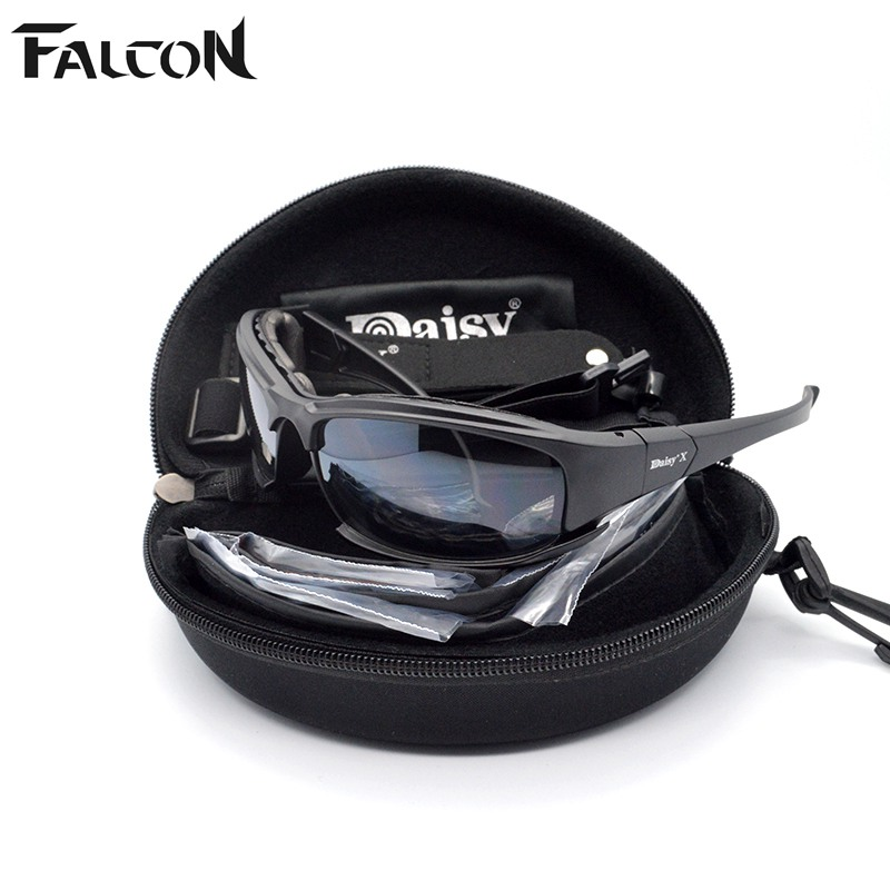Daisy X7 Airsoft Tactical Paintball Game Goggle Glasses 4 pcs of Lens for Helmet with Motorcycle