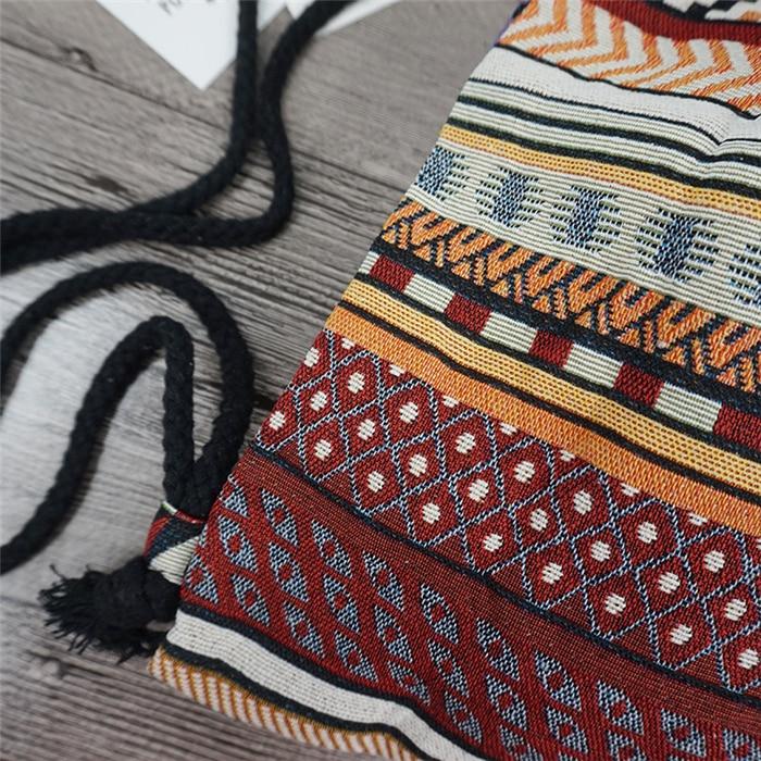 HTB1v1LSdv9TBuNjy0Fcq6zeiFXaL LilyHood Women Fabric Backpack Female Gypsy Bohemian Boho Chic Aztec Ibiza Tribal Ethnic Ibiza Brown Drawstring Rucksack Bags