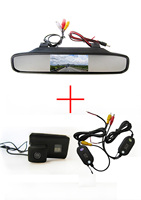 Otomobiller ve Motosikletler'ten Araç Kamerası'de Kablosuz Araba Dikiz Kamera için Peugeot 206 207 306 307 308 406 407 5008 Partner Tepee  4.3 Inç dikiz Aynası Monitör