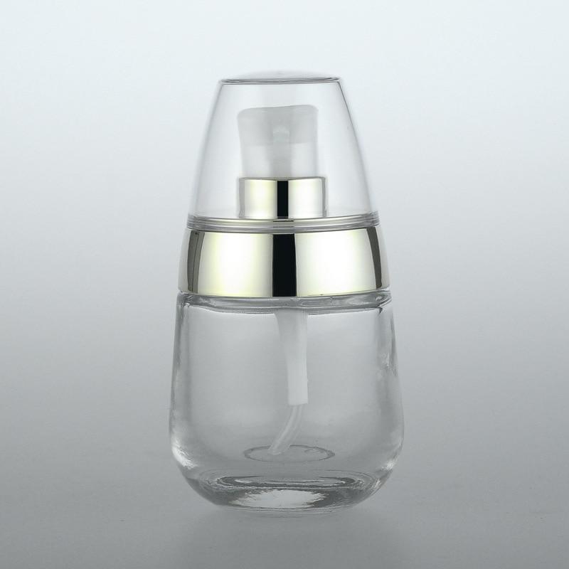 1pcs 30ml glass press bottle bright gold pressure pump Sub-bottle High-grade bottles Little penguin wholesale BQ062