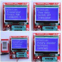 DIY KITS Digital Combo Component M8 Transistor Tester Capacitor LCR Diode Capacitance ESR Meter PWM Square